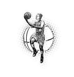 womens basketball vector image