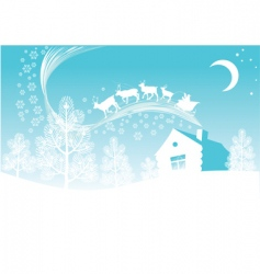 Christmas forest vector image vector image