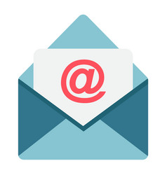 email flat icon envelope and website vector image vector image