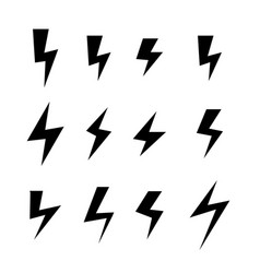 icon set of thunder bolts vector image vector image