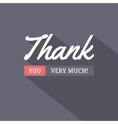 Thank You Modern Card vector image vector image