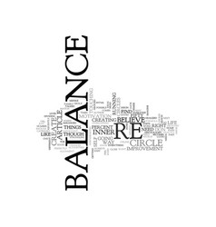 what balance looks like for you text word cloud vector image vector image
