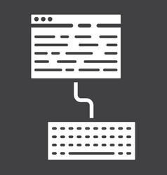 copywriting glyph icon seo and development vector image vector image