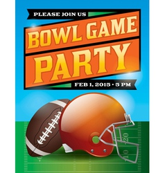 Football Bowl Game Party Flyer vector image vector image