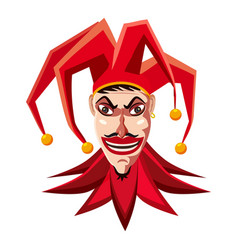 jester in red hat icon cartoon style vector image vector image