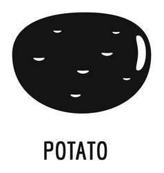 potato icon simple style vector image