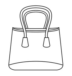 shop bag icon outline style vector image vector image
