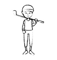 sport man cartoon vector image