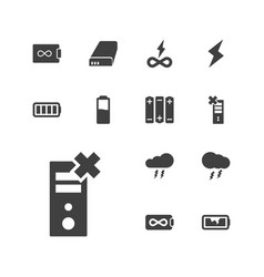13 charge icons vector