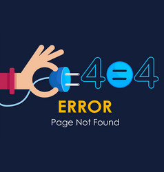404 error page not found plug graphic vector