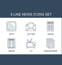 6 news icons vector