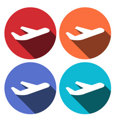 Airline airplane or jetliner flight take off flat vector