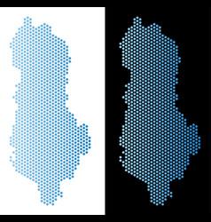 Albania map honeycomb scheme vector