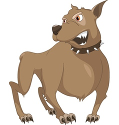 Angry dog cartoon vector