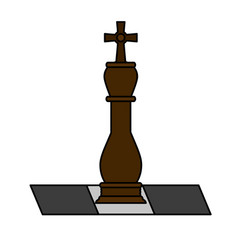 bishop chess piece icon image vector image
