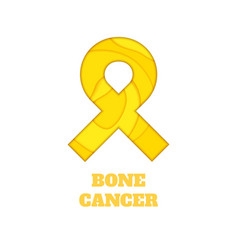 bone cancer awareness papercut ribbon vector image