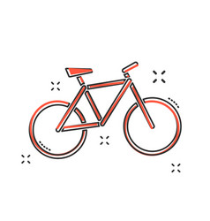 cartoon bike icon in comic style bicycle sign vector image