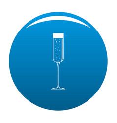 Champagne glass icon blue vector