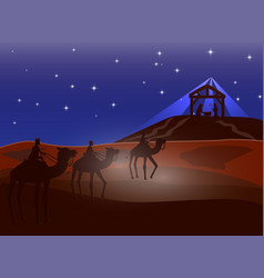 christmas christian nativity scene of baby jesus vector image