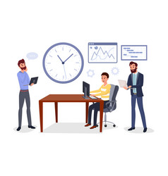colleagues business meeting vector image