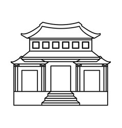 culture japanese temple building vector image