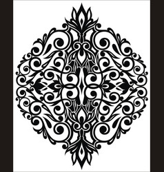 damask floral element vector image