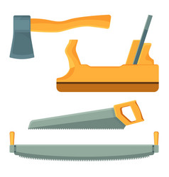 deforestation tools set of icons on vector image