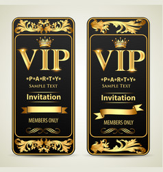 design invitations to vip party gold vector image
