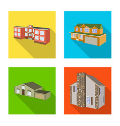 design of facade and housing sign vector image