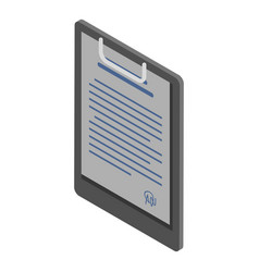 Document clipboard icon isometric style vector