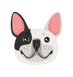 dog pet head icon vector image