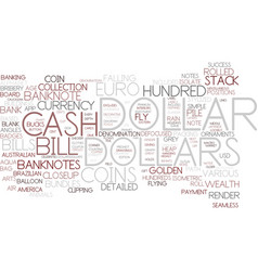 Dollars word cloud concept vector