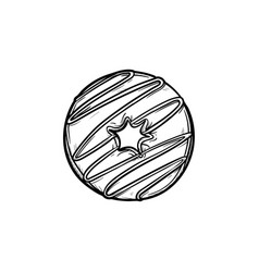 doughnut hand drawn sketch icon vector image