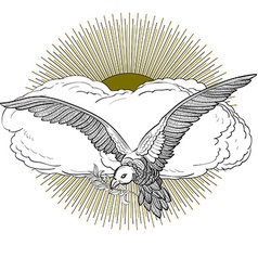 Dove sun vector image