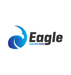 eagle head logo design vector image