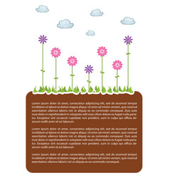 earth land template vector image