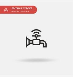 faucet simple icon symbol vector image
