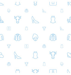 Female icons pattern seamless white background vector