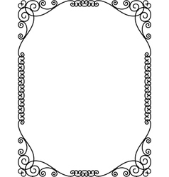 forged openwork metal abstract black frame vector image