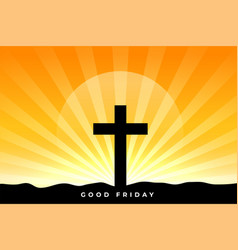 Good friday blessing background with cross vector