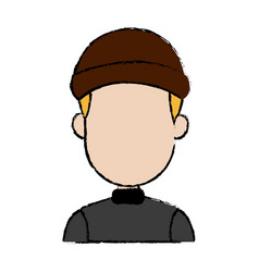 Hacker character portrait thief technology image vector