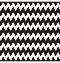 Hand Drawn Horizontal ZigZag Lines vector
