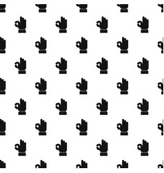 hand everything good pattern seamless vector image