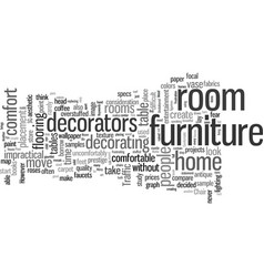 How to create a comfortable room vector