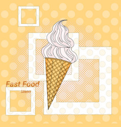 ice cream sweet dessert fast food concept flat vector image