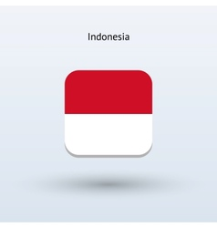 Indonesia flag icon vector