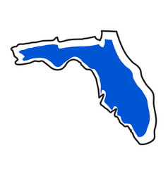 Isolated map of the state of florida vector
