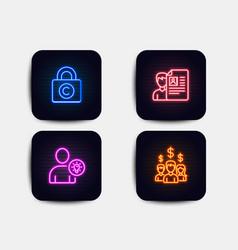 Job interview copyright locker and user idea vector