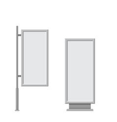 large blank empty white billboard screen vector image