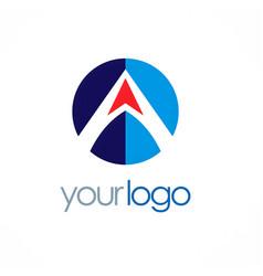 letter a arrow company logo vector image